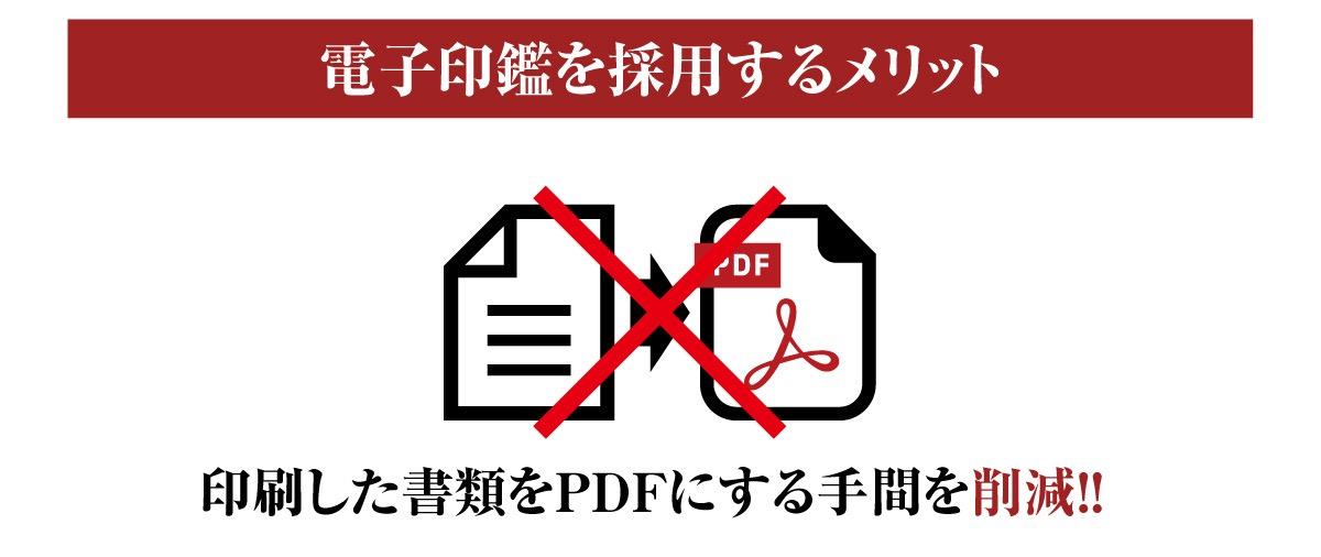 電子印鑑のメリットは書類をPDFにする手間を削減する画像