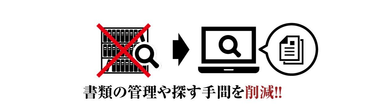 電子印鑑のメリット、書類の管理や探す手間を削減する